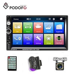 caméra de recul bluetooth android Promotion Podofo Auto Radio 2 Voiture Lecteur Multimédia Lecteur DVD 7