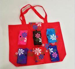 bolsas plegables para el medio ambiente Rebajas Clásicos Mujeres Bolso plegable de gran capacidad Casual Floral Oxford tela ambiental oscuro hebilla bolso de compras 7color portátil