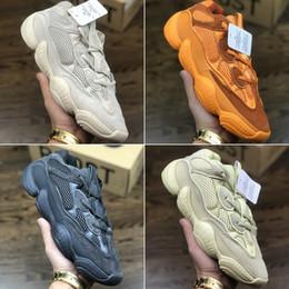 d58c99c100a86 2018 TOP Qualité Blush Utilitaire Noir Kanye West Désert Rat adidas yeezy  yeezys yezzy yezzys boost 500 Sneaker Kanye Chaussure Chunky Designer  Chaussure ...
