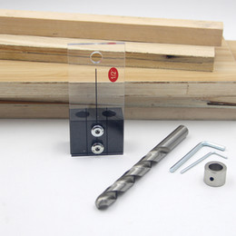 хорошие вкладки Скидка Комплект для гладкого сверления DIY Высокопрочный деревообрабатывающий инструмент Жесткая направляющая локатора дома Профессиональный дюбель Easy Carry Carpentry
