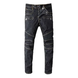 Canada Mode Streetwear Hommes Robin Jeans Vintage Noir Spliced Designer Motard Biker Jeans Homme Multi Poche Cargo Pants Pantalon Hip Hop Jeans Pour Hommes supplier pocket motors Offre
