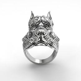 2019 jóias anéis de cão Nova Moda Em Aço Inoxidável Doberman Dog Animal Anel Para Homens Fine Jewelry jóias anéis de cão barato