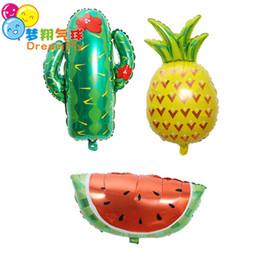 Forniture di decorazione di frutta online-Anguria di frutta Palloncino 63cm * 73cm Palloncini di rivestimento in alluminio Elio Ballon Decorazione di compleanno Forniture per feste in mongolfiera