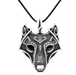 Modyle pendentif Norfolk Vikings collier tête de loup nordique bijoux originaux animaux tête de loup ? partir de fabricateur