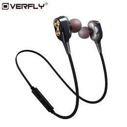 Overfly Double Dynamics Bluetooth Kopfhörer Wireless Headset Kopfhörer mit Mikrofon Stereo-Ohrhörer für Handy-Sport von Fabrikanten