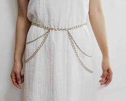 Body Jewelry Moda Sexy cintura cadeia Multi Camada corrente de metal Corpo Cruz americanos e europeus das Relações Exteriores Border New Acessórios de