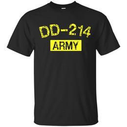 Camisa del ejército de la vendimia online-ARMY Veteran T-Shirt DD-214 US Army Alumni Vintage Negro, Navy Camiseta S-4XL Hombres Mujeres Unisex camiseta de moda Envío gratis negro