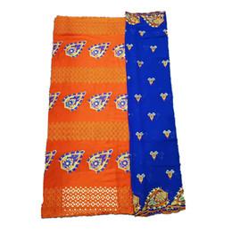 339df948d 2019 tecido vestido laranja Tecido de vestido de renda Beautifical orange  voile rendas tecido bordado suíço
