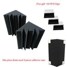 Painéis acústicos on-line-16 Pcs Bass Trap Painéis Acústicos Absorção De Espuma de Tratamento de Música Para Estúdio Melhor Preço Q190522