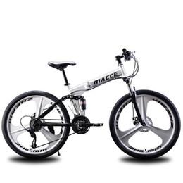 """2020 Mountain Bike 21 velocidade de bicicleta de estrada bicicleta dobrável Duplo freios a disco de 26"""" polegadas dobrar bicicletas de montanha estudante bicicleta bicicletamvXR # de Fornecedores de baterias do poder rei"""