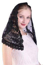 Encaje bordado a mano Velo de Mantilla Iglesia católica Capilla Velo Cubrir la cabeza Misa latina desde fabricantes