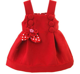 2018 Fashion Style Neonate Abiti Invernali Floreale Rosso Cotone Vestidos Per 1 E 2 Anni Bambina Abbigliamento Rkd185001 J190426 da