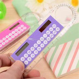 Argentina Estudiante Regla Calculadora Plástico Mini Calculadora Multifunción 10 cm Papelería Creativa Calculadora Solar Portátil aa696-703 2018010903 Suministro