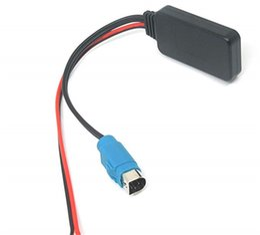Carros alpinos on-line-Car Aux Módulo Adaptador Bluetooth Car Kit Bluetooth Receptor de Áudio Estéreo Aux Cabo de Rádio para Alpine KCE-236B CDE-9872 CDA