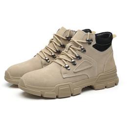 Invierno militar botas de cuero hombres online-Botas de cuero genuino para hombres martins botines militares hombres botas de nieve para hombre zapatos de invierno zapatos de hombre botines hombre bona