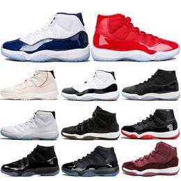 cheap for discount 0c88c fc82e 2019 blau retro 11 Air Jordan 11 Retro AJ11 Nike Herren-Basketballschuhe 11  11s Platinfarbton