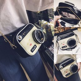 2019 crossbody câmera saco mulheres Mulheres Moda Camera Forma Pequeno Shoulder Bag Crossbody Bolsa Messenger Bag C19030201 crossbody câmera saco mulheres barato