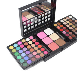 Sombra de ojos en capas online-Paleta de sombra de ojos profesional popfeel 78 colores Shimmer Diseño de 3 capas Paleta de maquillaje Sombras de ojos Sombras de ojos 24 sets / lot DHL libre