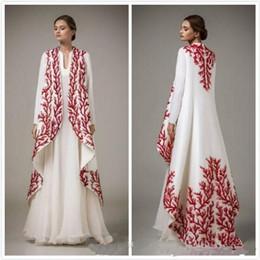 Decorazioni arabe del partito online-Il vestito da sera del vestito da sera di nuovo Medio Oriente alla moda del modello 2019 ha ornato i vestiti da partito di A-Line dei vestiti da promenade arabi