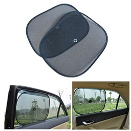 Pare-soleil de fenêtre latérale en Ligne-Nouveau 2pcs fenêtre de voiture bloc de couverture de parasol pour enfants côté de la fenêtre de la voiture ombre été pare-soleil couverture visière bouclier écran