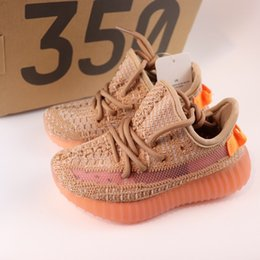 Pattini di sport estivi dei capretti online-adidas yeezy 350 V2 Static Hot Spring summer 2019 Toddler Boys Girls Sneakers traspiranti Kid 35 02 Scarpe da corsa Teens Fashion School light Sport Shoes Size24-35