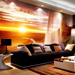 Wondrous Custom 3D Photo Wallpaper Nature Scenery Mural Bedroom Living Room Sofa Background Setting Sun Waterfall Landscape Wall Paper Pabps2019 Chair Design Images Pabps2019Com