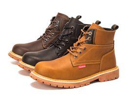 Chaussure de sécurité Toes Hommes en acier Cap Sport de plein air Travail Sentier de randonnée Chaussures de protection Chaussures Baskets Bottes en