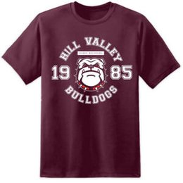Hill Valley 1985 Back To The Future Flux Capacitor Maroon Crewneck Sweatshirt
