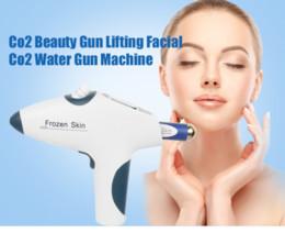 Máquina de enfriamiento facial online-gun piel congelada co2 mesoterapia fresco aguja de la máquina de elevación facial meso libre arma anti-arrugas para blanquear la piel equipo de belleza facial