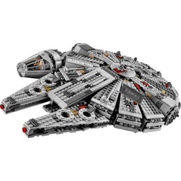 Ladrillo construido online-Estrella del Milenio Falcon 79211 Figuras Ladrillos Wars Building Blocks inofensivos aclara encaja legoinglys Juguetes compatibles