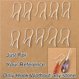 Boucles d'oreilles en Ligne-En gros 100 PCS Lot prix de détail réel 925 Sterling Silver Pinch Bail crochet DIY femmes boucles d'oreilles conclusions oreille fils bijoux