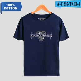d69d9737b12 2019 Womens luxury designer t shirts Kingdom Hearts Fashion Printed 100%  Cotton T-shirts Men Summer Short Sleeve T Shirts Hot Sale Casual