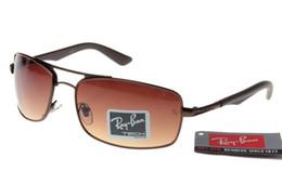 Película polarizante para gafas online-Diseñador de la marca para hombre Gafas de sol con vidrio polarizado para conducir Moda Gafas de sol de lujo de alta calidad Gafas de película de color UV400