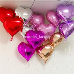 2019 forma de corazón globos de aluminio 50 unids 18 pulgadas Foil globos forma de corazón decoraciones del banquete de boda cumpleaños habitación del bebé navidad decoración para el hogar rebajas forma de corazón globos de aluminio