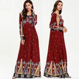 abiti islamici jilbab Sconti Abiti musulmani e Abaya per le donne Abaya Kaftan Dubai Abito Hijab Ramadan Turchia Jilbab Caftano Elbise Qatar Emirati Arabi Uniti Abbigliamento islamico