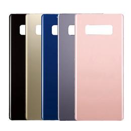 Samsung logo stickers online-OME para Samsung Galaxy Note8 Note 8 Parte posterior de la tapa de la batería Cubierta de vidrio de la puerta trasera + Pegatina adhesiva + LOGO doble