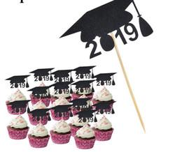 2019 cappelli del medico Laurea Dottore stagione Cappello da forno Inserto torta Tavolo da dessert Torta di compleanno Decorazione Graduazione Decorazioni di stagione Forniture GB sconti cappelli del medico
