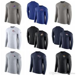 T-shirts en Ligne-Hommes Femmes Buffalo Bills Denver Broncos Chemise Jacksonville Jaguars Patriots Washington Redskins Entraîneurs Ouch T-shirt Performance À Manches Longues