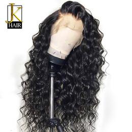 Kıvırcık Dantel Ön İnsan Saç Peruk Kadınlar Için Siyah Renk brezilyalı Dantel Peruk Frontal Koparıp Full End 360 Çember Bun Jk T190717 Yapabilirsiniz nereden üçgen ayak tedarikçiler