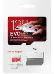 2019 u1 оптовые 2019 Фабрика Оптовая 90mpbs Белый U1 Красный EVO Plus 64 ГБ 128 ГБ 256 ГБ Class10 TF Флэш-карта памяти с блистерной розничной упаковке Fedex express скидка u1 оптовые