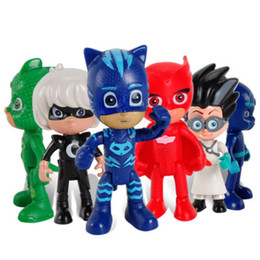 mask action Coupons - 6pcs  Set Pj Masks Gekko Anime Figurine Brinquedo 8cm Pvc Pajamas Masked Hero Pj Mask Action Figure Toys for Boys Christmas Gift