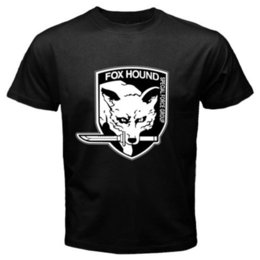 fox gear Coupons - FOX HOUND Special Force Group Metal Gear Solid Men's Black T-Shirt Size S-3XL custom printed tshirt Casual Short Sleeve TEE