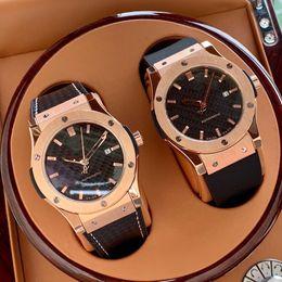 Vraies montres en Ligne-2019 montre de luxe H93 célèbre populaire mens montres Top mouvement mécanique automatique réel bracelet en peau de vache de haute qualité 42mm vente chaude