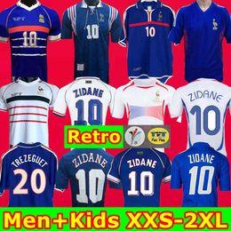 ko Rabatt Top 2002 1996 2000 1998 2006 Frankreich Retro KIDS camiseta de fútbol Trikot 2004 Trézéguet ZIDANE HENRY maillot de foot Ribery Djorkaeff Shirt