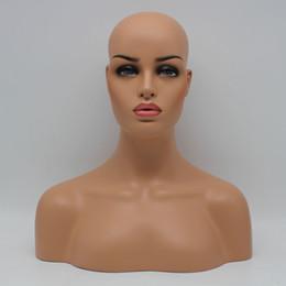 Bijoux ems en Ligne-Nouveau Sklin Bonne Qualité EMS Livraison Fiber De Verre Femme Mannequin Tête Buste Pour Dentelle Perruque Bijoux Et Chapeau Affichage