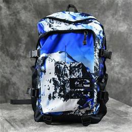 Sacs carte marque en Ligne-Sacs à dos en plein air Carte Sup imprime sac de rangement de marque sac à dos populaire brun bleu 2 couleurs choisies usine directe 35xx E1