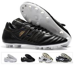 5e6de52cb81 Hombres Clásicos Caliente Copa Mundial Zapatos de fútbol de cuero Fg Tacos  de descuento Copa Mundial de Fútbol Botas Negro Blanco Botines Futbol  Tamaño 39- ...