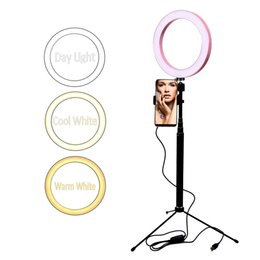 10 LED O Ring Light selfie maquillage pour Youtube live stream maquillage maquillage 16/20 / 26cm USB 5V entrée 3 couleurs réglable support de téléphone ? partir de fabricateur