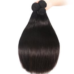 2019 grandi capelli indiani 9A Grande Qualità Tessuto Capelli Umani Dritto 3 Bundles / Lotto Economici Capelli Brasiliani Peruviani Malesi Indiani Vergini Dei Capelli Trame 8