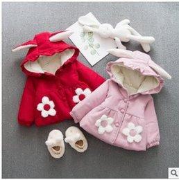 Casacos cor de rosa do amor on-line-Outono / Girls coleção de inverno amo encapuzados jaquetas de lã desgaste casaco vermelho rosa bebé e criança